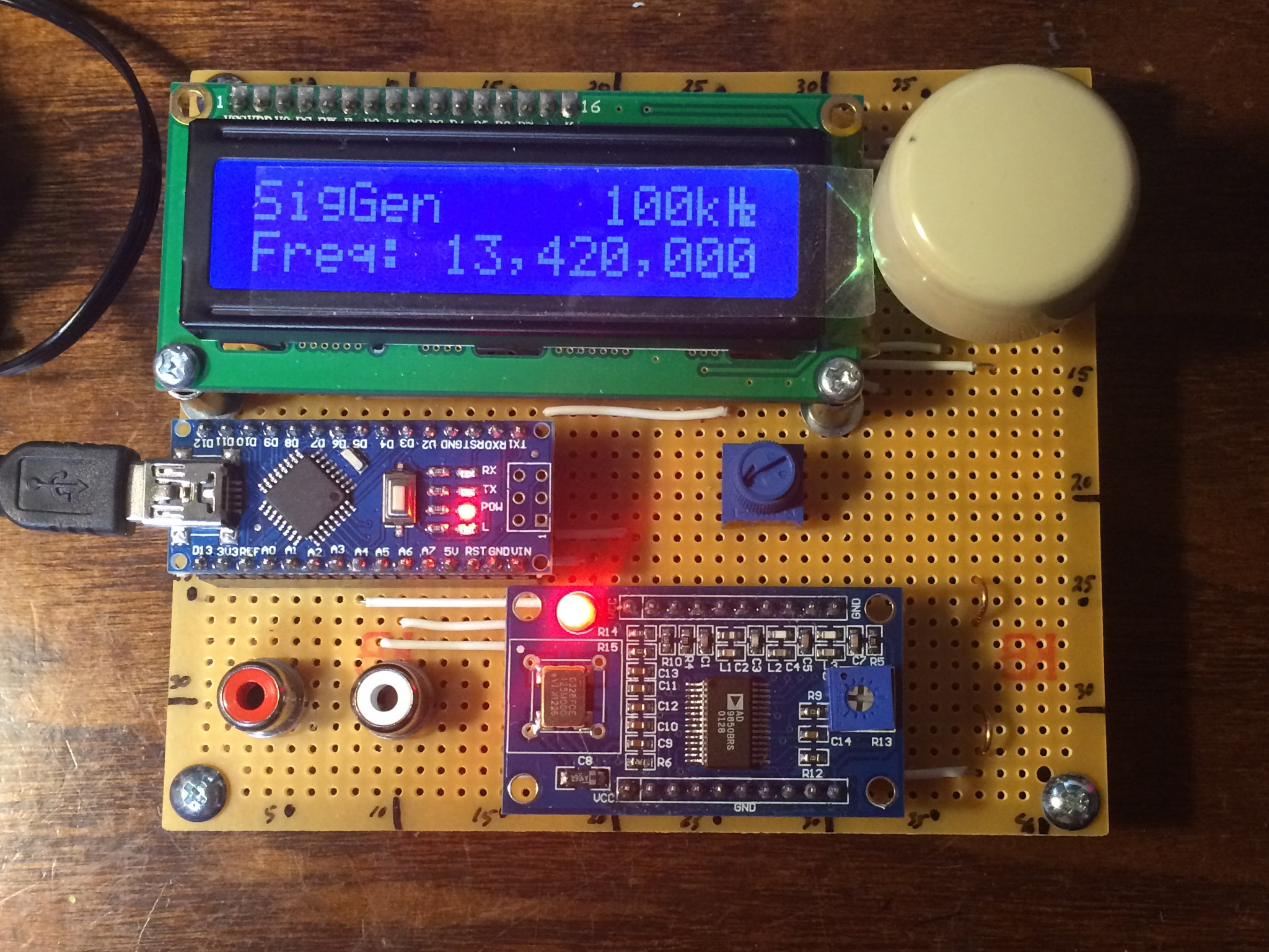 Ad9850 Based Signal Generator At How To Build A Rotary Encoder Circuit With An Arduino On The Dds Module And Lcd Display